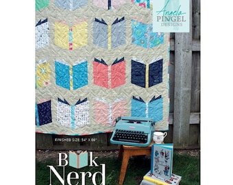 Book Nerd Softcover Quilt Pattern - PAPER PATTERN - Designed by Angela Pingel