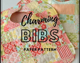Charming Bibs by Thimble Blossoms - PAPER PATTERN - Pattern #153
