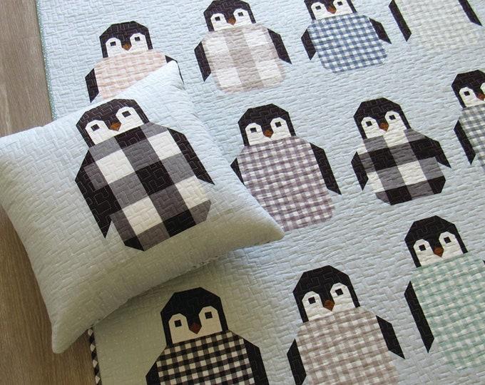 Penguin Party Quilt Pattern by Elizabeth Hartman - PAPER PATTERN