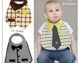 Dude Babies! Bib Patterns - PAPER PATTERNS - Designed by Vanilla House Designs