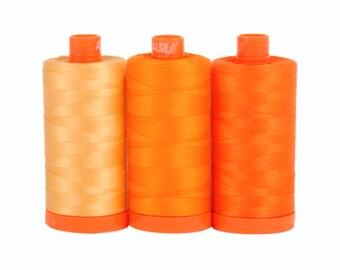 Tuscany Orange - Color Builder 3pc Thread Set - Aurifil USA