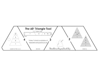 60 Degree Triangle Tool - By Needle in a Hayes Stack