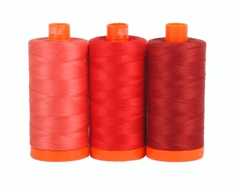Pompeii Red - Color Builder 3pc Thread Set - Aurifil USA