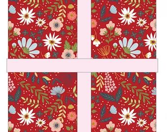 Farm Girls Unite 5 inch Charm Pack - POPPIE COTTON - Pre Cut Quilt Fabric