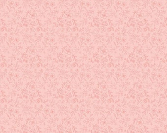 Daisy Mae by Poppie Cottons DM20104 Sweet Blooms Pink - WOVEN FABRIC - Sold by the 1/2 Yard