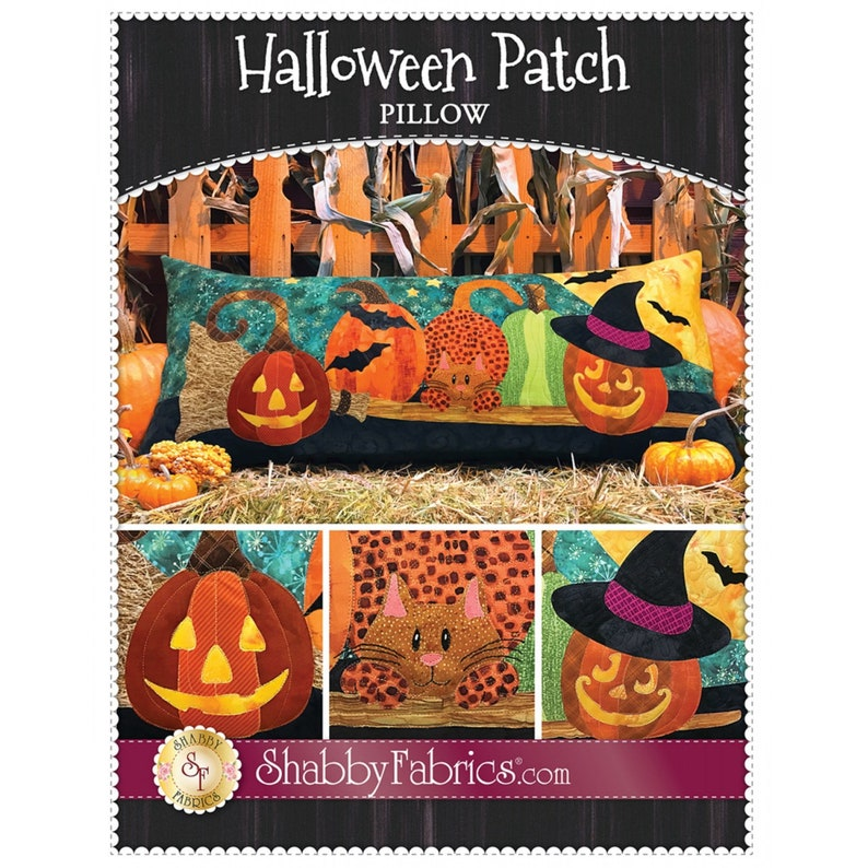 Halloween Patch Pillow by Shabby Fabrics  PAPER PATTERN  image 0