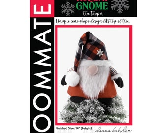 Holiday Gnome Tree Topper Sewing Tutorial - PAPER PATTERN - Make a Christmas Gnome