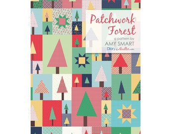 Pine Hollow Patchwork Forest Quilt Sewing Pattern - PAPER PATTERN - Designed by Amy Smart Diary of a Quilter