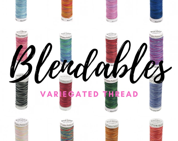 Featured listing image: Blendables Cotton Thread - CHOOSE your COLOR - 12wt - 50 yards - Made by Sulky of America