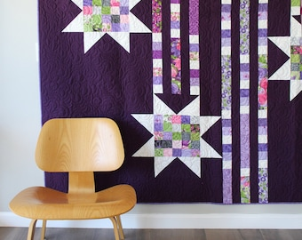 Showering Stars Quilt Pattern by Robin Pickens - PAPER PATTERN - Trail of Stars