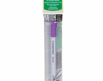 Air Erasable Marker Extra Fine Purple - Sewing Supplies - Disappearing Ink