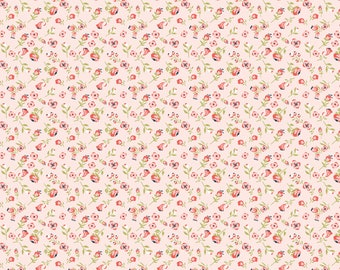 Daisy Mae by Poppie Cottons DM20110 Mini Mae Pink - WOVEN FABRIC - Sold by the 1/2 Yard