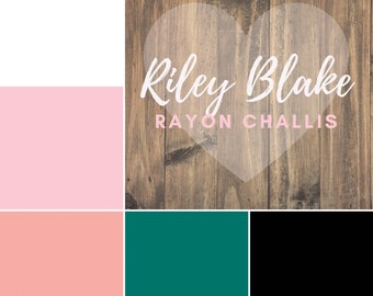 Riley Blake Fabric Rayon Challis Solid Sold by the 1/2 Yard