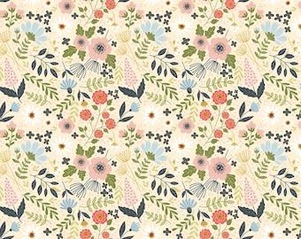 Farm Girls Unite Cream Main Floral FG20713 - POPPIE COTTON- Sold by the 1/2 Yard