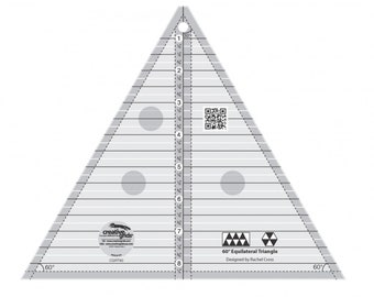 Creative Grids 60 Degree Triangle 8-1/2in Quilt Ruler - Sewing and Quilting Supplies