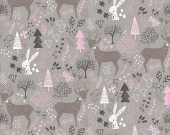 Emma & Mila HMD Woodland Camelot Fabrics Cotton Woven Quilt Fabric - DESIGNER FABRIC - Sold by the 1/2 Yard