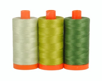 Dolomite Green - Color Builder 3pc Thread Set - Aurifil USA