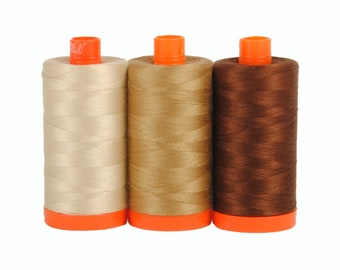 Florence Brown - Color Builder 3pc Thread Set - Aurifil USA