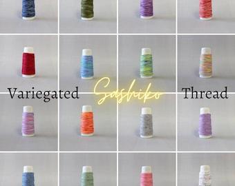 Sashiko Thread Variegated Multicolor - CHOOSE your COLOR - Cosmo Hidamari Made in Japan