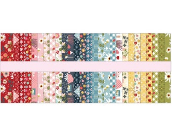 Farm Girls Unite 2-1/2 inch Rolie Polie Jelly Roll Cotton Woven Strips FG20729 - POPPIE COTTON - Pre Cut Quilt Fabric