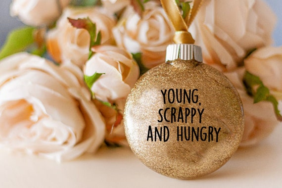 Hamilton Ornament Musical Broadway Christmas Young Scrappy and Hungry Ornament