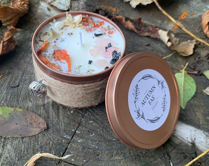 Amber- Crackling campfire scented candle