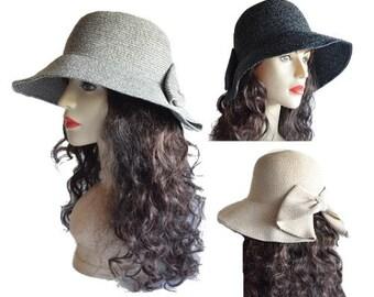Summer Straw Hat Women's Ladies Wide Brim Beach Hat Sun Foldable Cap