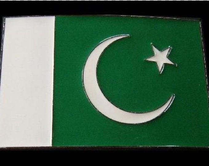Islamic Republic Pakistan Country Flag  Belt Buckle
