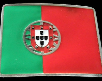 Portugal Azores Porto Portuguese Flag Belt Buckle