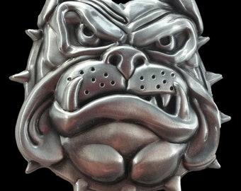 Bulldog Guard Dog Spikes Collar Pet Animals Belt Buckle Belts Buckles Boucle