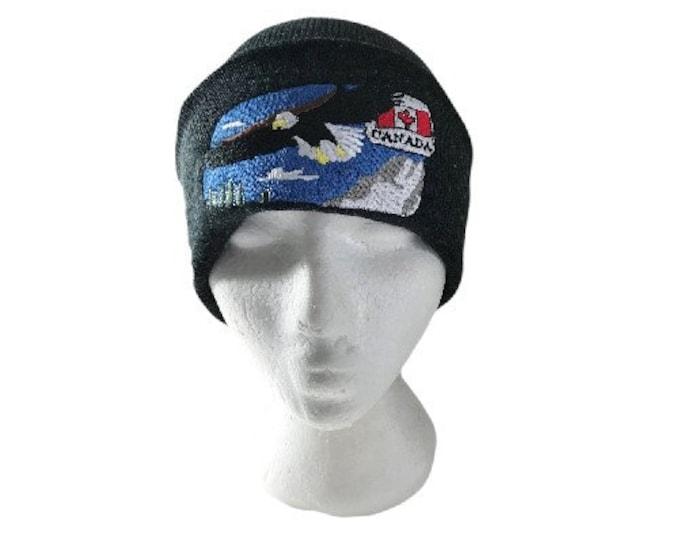 Canada Canadian Flag Maple Leaf Eagle Unisex Hat Beanie Hats