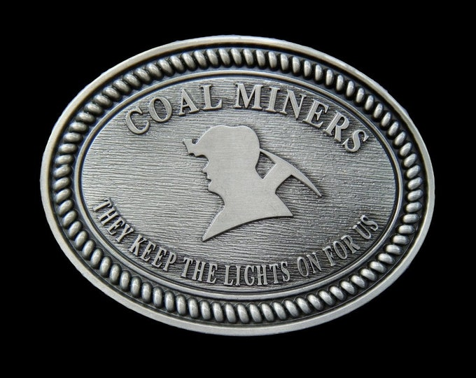 Coal Miners Mining Underground Coalfields Belt Buckle Boucle de Ceinture