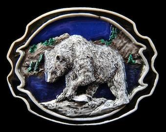 Grizzly Bears Alaska Alaskan Wild North Animals Belt Buckle Buckles