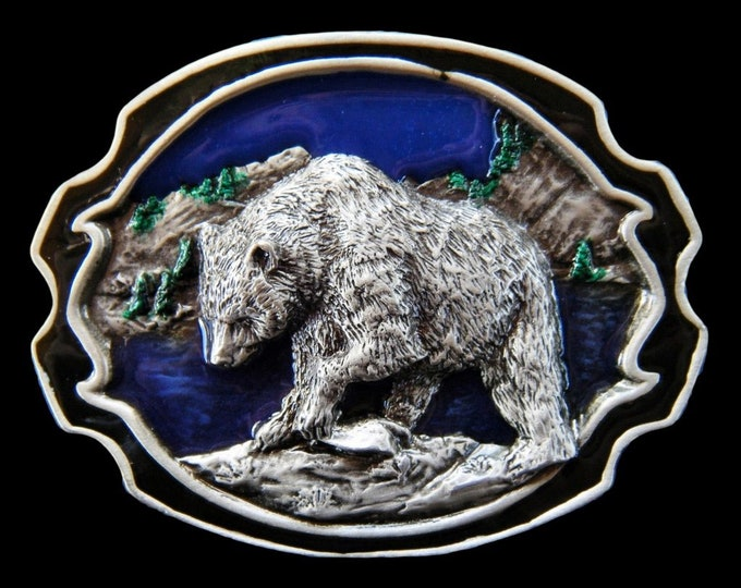 Grizzly Bears Alaska Alaskan Wild North Animals Belt Buckle Buckles