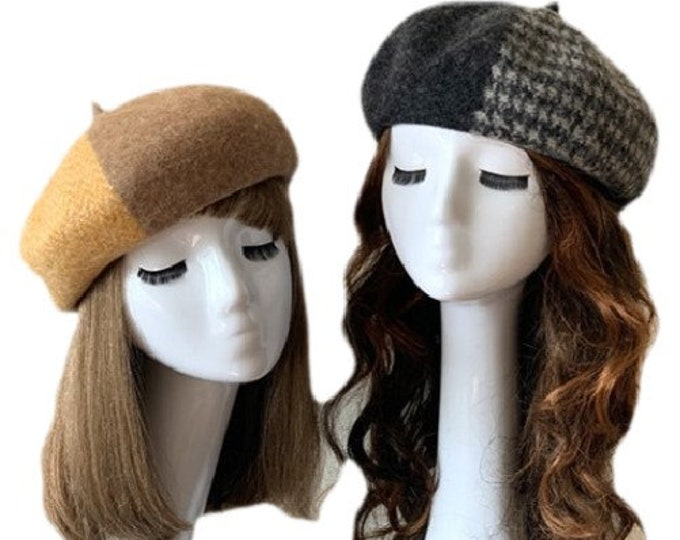 Trendy French Style Women's Beret Winter Hats Caps