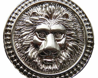 Lion Head Roman Fountain Lions Wild Animals Belt Buckle Buckles