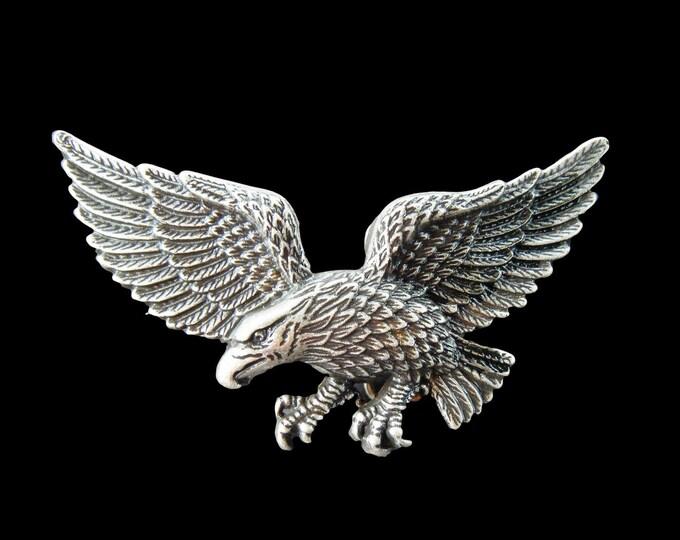 Wild Eagle Wings Spread Flying Prey Birds Belt Buckle