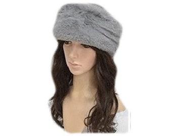 New Warm Cap Fashion Style Women's Faux Fur Russian Cossack Style Winter Grey Hat