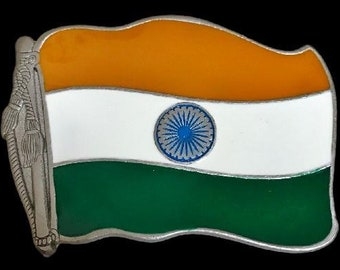 India Hindi National Flag Bharat New Delhi Belt Buckles