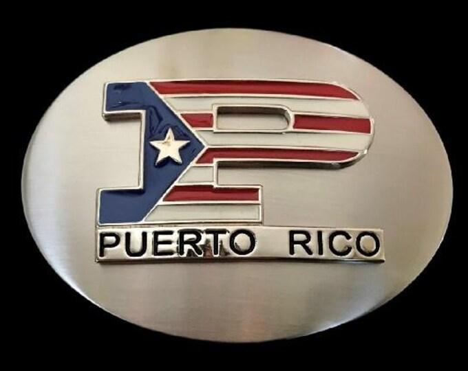Porto Puerto Rico Flag United States Unisex Belt Buckle