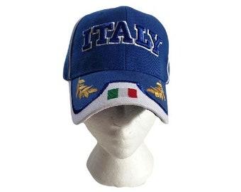 Italy Italia Flag Soccer Baseball Cap Hat
