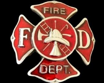 Cool Fireman Firemen Firefighter FD Crest Belt Buckle Boucle de Ceinture