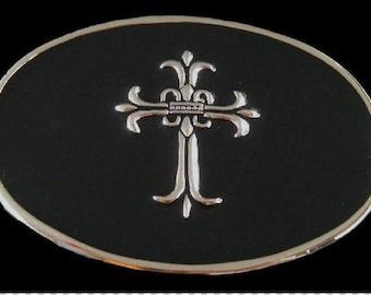 Gothic Medieval Style Era Cross Belt Buckle