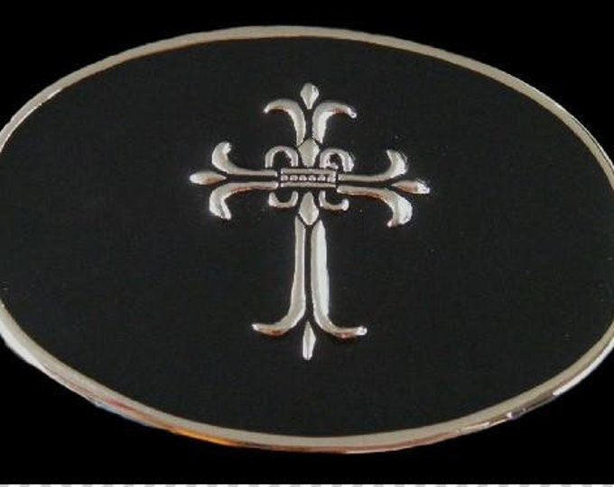 Gothic Medieval Style Era Cross Belt Buckle