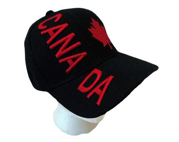 Canada Flag Soccer Baseball Hat Cap Red Mapleleaf