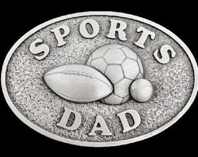 Dad Birthday Fathers Day Belt Buckle Sports Dads Soccer Football Baseball Belts Buckles