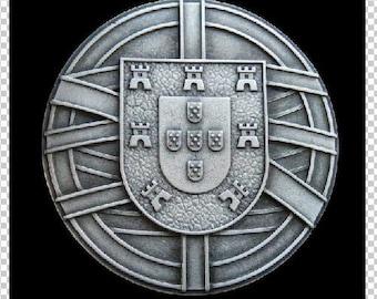 Portugal National Flag Coat of Arms Escudo Quinas Portuguese Republic Belt Buckles