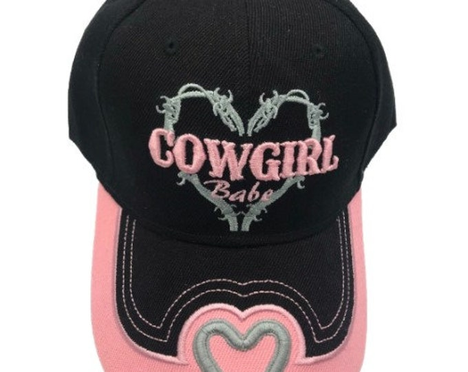 Cowgirl Babe Adjustable One Size Fits All Baseball Embroidered Cap Hat