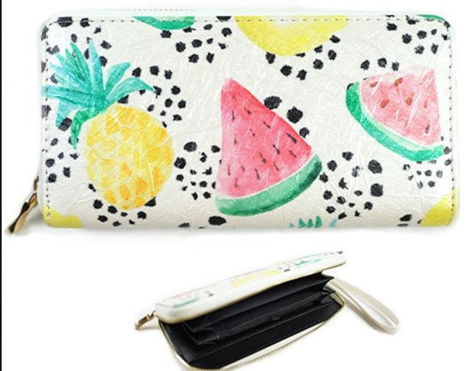 Watermelon Fruit Fashion Women's Zipper Clutch Wallet