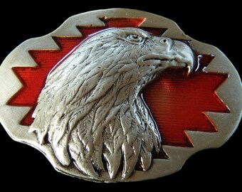 Eagle Falcon Unisex Native Wildlife Bird Belt Buckle